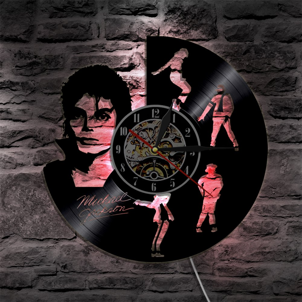Michael jackson pop icon vintage vinyl record theme wall for Small led lights for crafts michaels