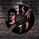 Michael Jackson Pop Icon vintage vinyl record theme wall clock Music Decor LED Lights