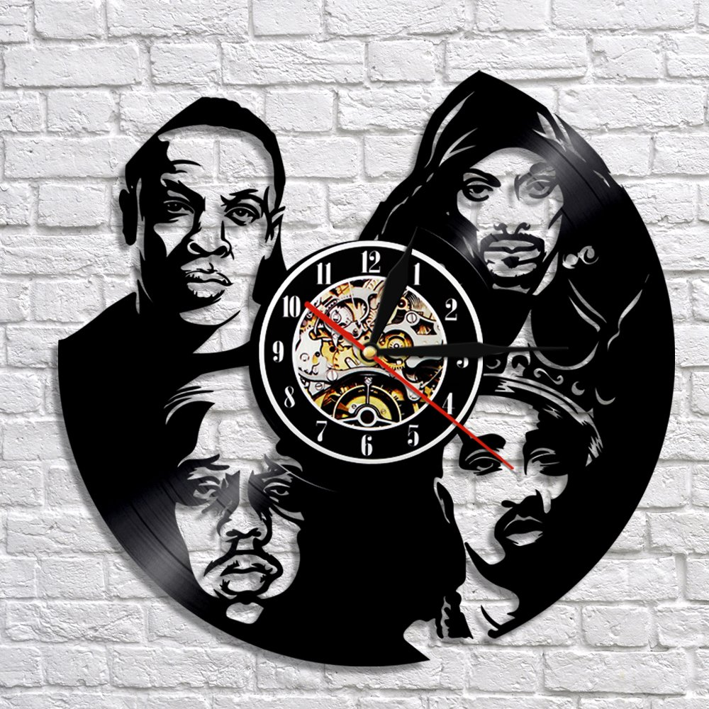 Tu Pac Snoop Dogg Rappers Vintage Vinyl Record Theme Wall