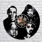 Tu Pac Snoop Dogg rappers vintage vinyl record theme wall clock Music Artist Home Decor