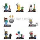 Minecraft Gaming LEGO  block Mini Figures Building Blocks Minifigures Steve Creeper Ederman