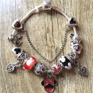Minnie Mouse Cartoon Disney Charm Bracelet with Charms Mickey Ears