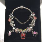 Minnie Mouse Ears Cartoon Disney Charm Bracelet with Charms Mickey Ears