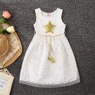 Hollywood Star Princess Glam Girls Dress Red Carpet White 12M,24M, 4T, 6T, 8, 10