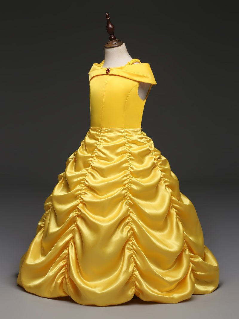 Princess Belle Beauty and the Beast Girls Character Dress Costume 4T-10