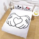 Mickey & Minnie Mouse Mr Mrs Heart Disney Bedding cover set- KING 3pcs - New years weekend SALE