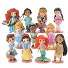 Disney Princesses 11pc pvc Figures set Ariel Belle Snow White Cinderella