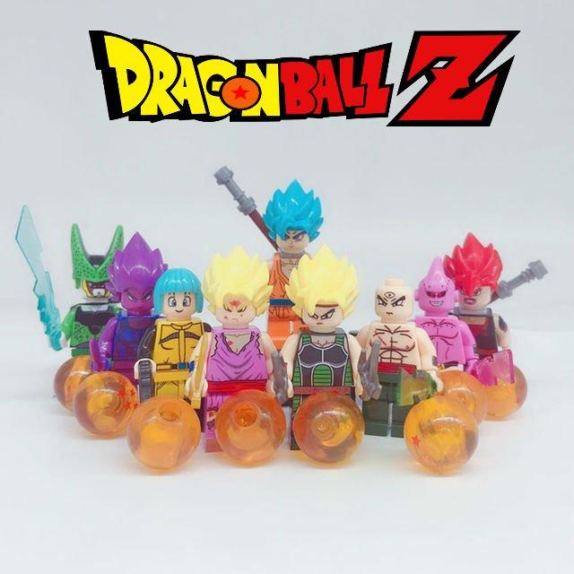 Dragon Ball Z 9PC Minifigure set Goku Vegeta Perfect Cell Majin Buu Gohan Bulma