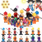 Dragon Ball Z 14 Minifigure Dragon Ball Z Goku Red Yellow Blue Hair Dragon Ball Son Vegeta Master