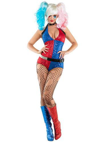 Harley Quinn Sexy Adult Costume Halloween Outfit for Women SALE