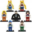 Sailor Moon Anime Lego Minifigures Set 7pcs Mini Figures Cartoon Characters