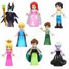 New Disney Character Minifigure set for LEGO Maleficent Ursula 8pcs