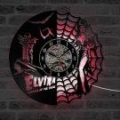 Elvira Mistress of the dark vinyl record theme LED wall clock Vintage Decor Horror