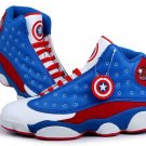 Captain America Men Basketball Shoes Size 9.5