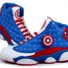Captain America Men Basketball Shoes Size 8