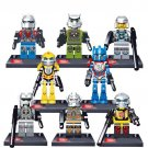 Transformers 8pc Mini Figures Building Blocks Minifigures Block Build Set