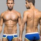 Andrew Christian U Waist Cotton Underwear briefs for Men Blue