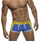 ES Body shaping designer boxer briefs Cotton Underwear Men blue