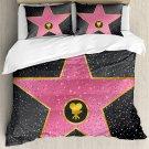 Hollywood Walk of Fame Star Celebrity Movie Bedding Set 4pcs KING