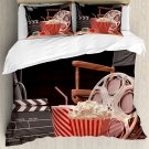 Movie Motion Picture Film Industry Theme Bedding Set  4pcs Full