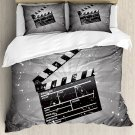 Hollywood Director Clapper Movie Film Bedding Set 4pcs QUEEN