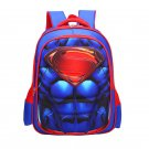 Superman Character Superhero Technic Design Backpack School Bag L