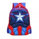 Captain America Character Superhero Technic Design Backpack School Bag S