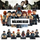 The Walking Dead Collection of 8 Set Mini Figures Building Blocks Minifigures Horror TV