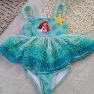 Disney Little Mermaid Ariel Princess One Pieces Swimsuit Kids Ruffled Swim suit Children Girls