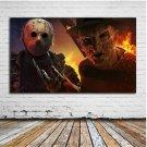 Freddy Krueger vs Jason Voorhee / Horror Unframed HD Canvas Print Home Decor Art Painting