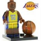 Kobe Bryant Mini Figure for LEGO Hollywood Sports Star Basketball Lakers Uniform
