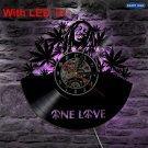 Bob Marley One Love vintage vinyl record theme wall clock  Decor Reggae Music Artist LED Lights