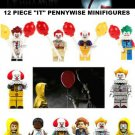 "Horror Film 12pc Pennywise ""IT"" movie  Minifigures set - Pennywise the clown"