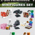 Minecraft Gaming Mini Figures Building Blocks Minifigures set NEW Steve Creeper Ederman