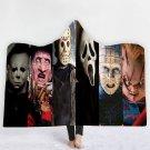 Horror Movie Killer Classic Characters Kids Hooded wrap fleece blanket throw