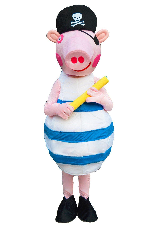 Pirate Peppa Pig Mascot Cartoon Character Adult Costume NEW