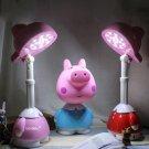 Blue Peppa Cartoon Table Desk Home Night Lamp Light Kid Bedroom