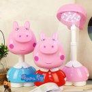 Pink Peppa Cartoon Table Desk Home Night Lamp Light Kid Bedroom