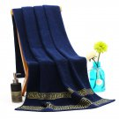 Luxury Beach Bath Towel Versace Greek Print Blue