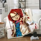 Horror Movie Monsters Chucky Child's Play Classic Characters blanket throw