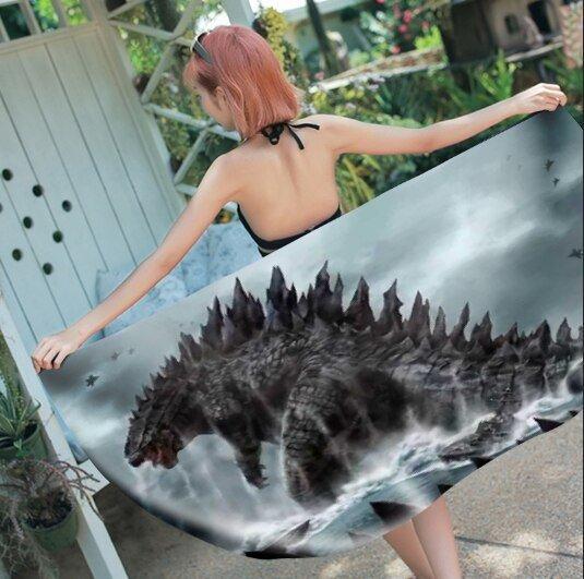 """Godzilla Beach Bath Towel New Arrival 55""""x 28"""" Horror Film Hollywood"""