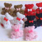 hair accessories clips for girls 12pairs/lot cute bear  a001