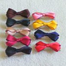 hair accessories clips for girls 12pcs/lot Ribbon Bow And Pearl  a0012