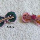 hair accessories clips for girls 10pcs/lot Ribbon Bow   a008