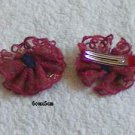 hair accessories clips for girls 10pcs/lot Lesbian flower   a009