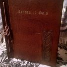 Vintage 1957 LEAVES OF GOLD Anthology Prayer BOOK-by CLYDE FRANCIS LYTLE