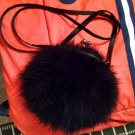 La Regale WOMEN HAND BAG Black FUR Hair Cocktail Purse RARE Find Vintage