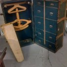 ANTIQUE Wardrobe Trunk dresser collector prop~~~RARE fancy~~~TITANIC type