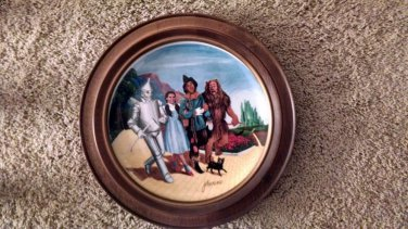 """Framed Knowles 79' Wizard Of Oz """"The Grand Finale"""" Auckland 40th Anniv. Plate"""