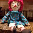 Vintage Raggedy Ann Doll 3 foot tall poka dot dress bloomers Applause Inc.